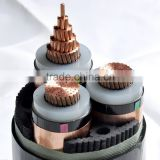 Al/Cu conductor 25 mm XLPE insulated thin steel wire under armoured PVC sheath power cable