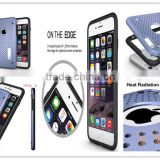 High Quality Hybrid Armor Case Heavy Duty Case For Iphone 6 With Heat Radiation Function