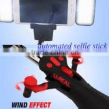 Amazon Hot Selling Unreal Selfie Stick with Fan, Automated Extension Monopod Selfie Stick with Beauty Light