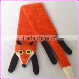 Cute handmade crochet baby scarf knitted baby neck scarf crochet fox scarf