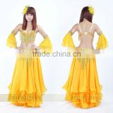 SWEGAL 2013 SGBDP13119 1COLORS yellow fashion sexy belly dance modern skirts