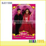 hot selling asian girl doll couples beautiful bride doll in bride dress with her groom