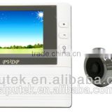 2.8 inch LCD remote video talk digital door peephole viewer,wired doorbell with camera,peephole door eye