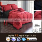 100% microfiber Saudi Arabia market winter quilting bed sheets red and black comforter sets