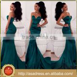 PS-39 Classic Style Low Back Sleeveless Full Length Stain Evening Party Prom Dress with Long Train Turquoise Dress