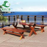Wholesale prices teak wood garden beer table and chair outdoor furniture hot supply