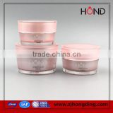 hot stamping use by hand cream 10/g15g/30g/50g Double tube acrylic cream jar for cosmetic