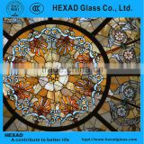 Supply HEXAD GLASS& HEXAD INDUSTRIES//Tiffany Style roof ceiling dome with customized patterns