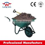 PU foam wheel high quality easy to assemble homeowner construction garden plastic wheelbarrow