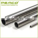 China 304 grade decorative polishing Stair Handrail Window Rail furniture stainless steel tube