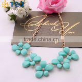 >>>Fashion Sexy Lady Women Banquet Accessories Flowers Resin Charm& Choker Necklace Pendant/
