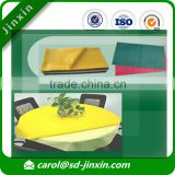 Wholesale Sale Fabrics about Disposable Table Cloth of China Supplier with Raw Material PP Non Woven Fabric