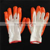 latex rubber coated gloves on synthetic shell