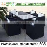 black wicker and popular outdoor dining set
