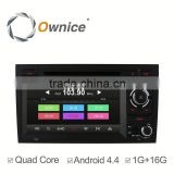 "Ownice 7"" Quad Core Pure Android 4.4 DVD GPS Navigation system for Audi A4 Built-in bluetooth handsfree"