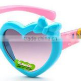 Wholesale fashion cool funny promotional cheap UV400 plastic heart shape children/child/baby/kids sunglasses eyeglass eyewear