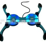 Hot adjustable octopus smart play pad with led blue light cool master for 10inch laptop cooling