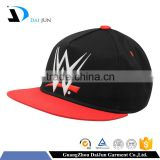 2016 fashion 100% acrylic screen printing plastic buckle red eyelets custom men blank flat brim 5 panel snapback cap/hat