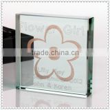 Double Printed Glass Baby Souvenir Gift For Baptism Souvenir