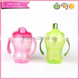Hot sell baby non-toxic PP plastic sippy cup children water bottle with handle