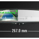 ek2-043lab car rearview mirror monitor germid with bluetooth, parking sensor, automatically reverse camera diaplay