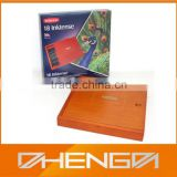 High quality customized made-in-china wholesale wooden slide top boxes for colored pencils (ZDS-F200)