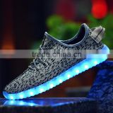 2016 Wholesale Flyknit Upper Yeezy Shoes Light UP LED Shoes