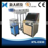 Hot sale !! Paper box /carton/plastic box marking production date Co2 RF laser marking machine