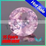 2015 Wholesale Wuzhou Gemstone Blue Sapphire Processing Round Artificial 1.25# Red Ruby
