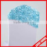 wholesale elegant tiffany rose chair sash for wedding or party decoration