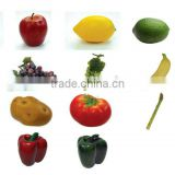 Realistic Artificial Fruits Play Food Artificial Mixed Fruit Life Sized Bag of Vegetables Play Food