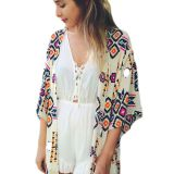 Fashion Women Summer Printed Coat