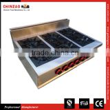 Stainless Steel Cooking Counter Gas Cooktop Catering Equipment gas stove cast iron burner