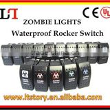 12v Blue Illuminated Waterproof Rocker Switch