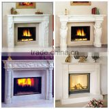 White Carrara Marble Fireplace Top Quality