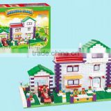 Kids plastic big construction bricks building blocks train toys 1185pcs