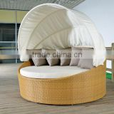 yellow rattan round hammock chair with canopy