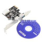 PCI Express to USB 3.0 Converter Mini PCI-E USB 3.0 2Port PC Expansion Adapter Card For Vista Win 7