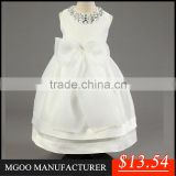 MGOO High End Custom Made Girls Dresses White Crystal Party Kids Dresses With Organza Ball Gown Dress MGT001-1