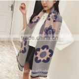 2016 Luxury Brand Cashmere Scarf For Women Sunflower Pattern Pashmina Cashmere Shawls Winter Women Blanket Scarf
