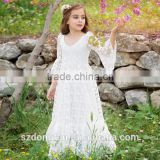 2017 Baby Girl Party Dress Children Frocks Designs Flower Girls White Long Maxi Wedding Dress