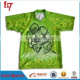 Cusotom sublimation printing wales rugby jerseys green shirt