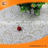 High grade milk silk painting Hollow out three-dimensional with dress making lace fabric