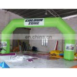 inflatable arch door for event .stitching arch with logo. green arch