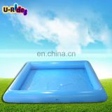0.9mm PVC Tarpaulin inflatable big swimming blue water pool For Amusement park