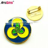 China factory supply cheap customized design metal lapel pin badge custom soft enamel logo
