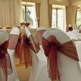 spandex wedding chair cover and organza chair sash