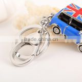 England flag car bag accessory key chain ring llavero plated silver and gold oro y plata