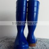 2016 blue pvc rain boots for men with industry