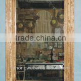 Rectangle Antique Wooden Framed Mirror & Antique Decorative Wall Hanging Framed Mirror